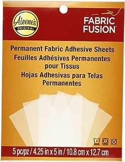Aleene's Fabric Fusion Permanent Adhesive Sheets 5pc