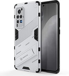 جراب XINKOE لهاتف Vivo X60 Pro ، [حامل عمودي وأفقي] [مضاد للسقوط] [نمط الشرس] [حماية الكاميرا] - أبيض