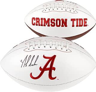 Nick Saban Alabama Crimson Tide Autographed White Panel Football - Fanatics Authentic Certified - Autographed College Footballs