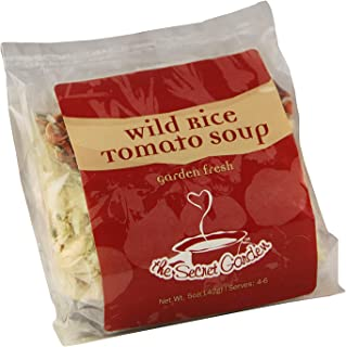 The Secret Garden, Wild Rice Tomato Soup; All Natural, VEGAN, Gluten Free, Just Add Tomatoes, Minnesota Wild Rice (2 PACK)
