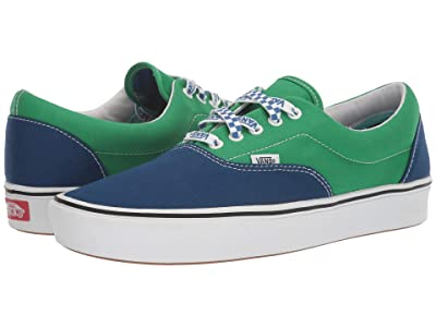 Vans ComfyCush Era ((Lace Mix) True Blue/Fern Green) Athletic Shoes
