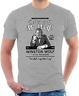 Sponsored Ad - Better Call Mr Wolf Pulp Fiction Men's T-Shirt