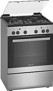 Siemens 60 X 60 cm, 4 Gas Burners Freestanding Gas Cooker, Silver - HG2L10B51M, 1 Year Warranty