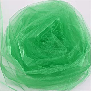 10M48cm Tulle Roll Fabric Organza Tulle Roll Spool Wedding Decoration Birthday Party Supplies,Green