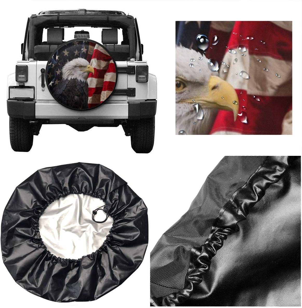 LOCOLO 20 Pieces American Flag Valve Stem Cap Trucks Bicycles Motorcycles Bikes Anti-Theft Design Stem Caps for Cars Tire Valve Stem Caps Metal with Rubber Ring Tire Wheel Rim Dust Cover