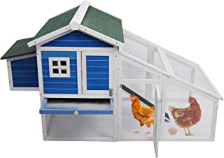 KARMAS PRODUCT Wooden Chicken Coop Large Rabbit Hutch Cat Hen House Garden Backyard Pet Nest Box Poultry Cage with Outdoor Run