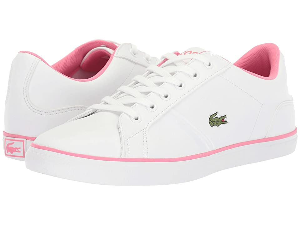 Lacoste Kids Lerond (Little Kid/Big Kid) (White/Pink) Kid