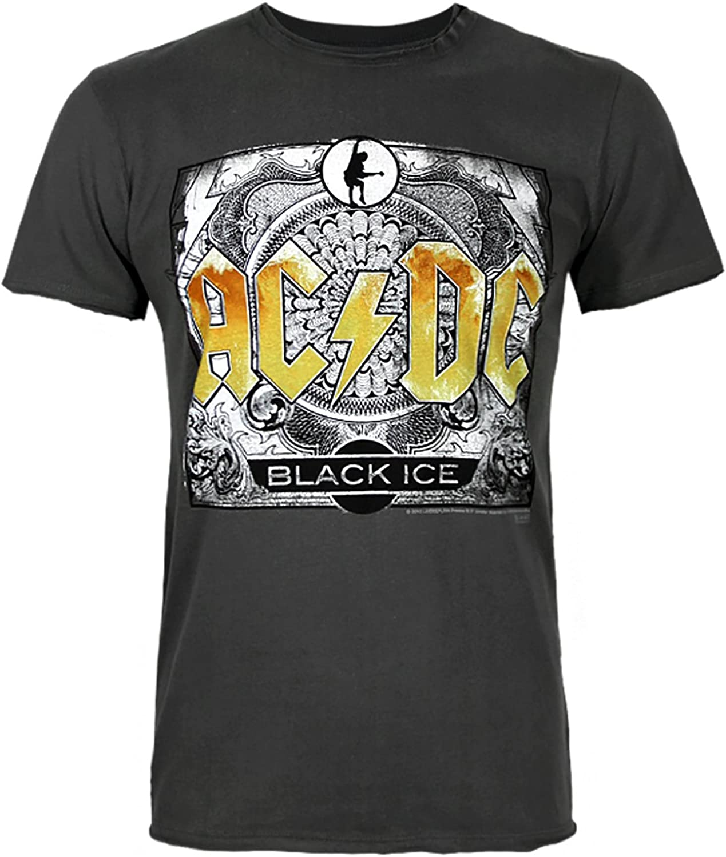 Amplified AC DC Black Ice Men's TShirt