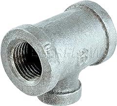 Everflow Supplies GMRT0122 1/2 cala x 3/8 cala ocynkowana żelazna redukcja koszulka z żeńskim gwintem