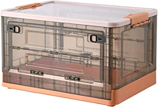 LANHA Boîte de Rangement avec Couvercle, 50L Boîte de Rangement Pliable en PP avec poignée Conteneurs empilables Panier de...