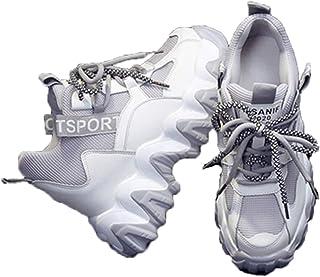 Sneakers Chunky da Donna Scarpe Casual Alte con Lacci alla Moda Scarpe Casual con Zeppa 8CM Suola Spessa Scarpe Sportive d...