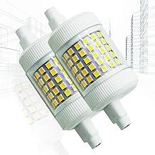 2x R7S 78mm LED-lamp 12W 3000K Dubbele eindigde 360 ° dimbare schijnwerper die gelijk is aan 150W halogeenbolvervanging