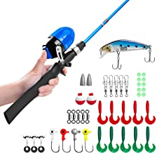 Kids Fishing Pole,Telescopic Fishing Rod and Reel Combos with Spincast Fishing Reel and..