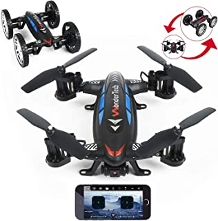 Evaxo Sky Wheeler App Control Drone and RC Car Combo Loaded with HD FPV Real time Live Video Feed Camera WiFi app Control & Remote Control Function