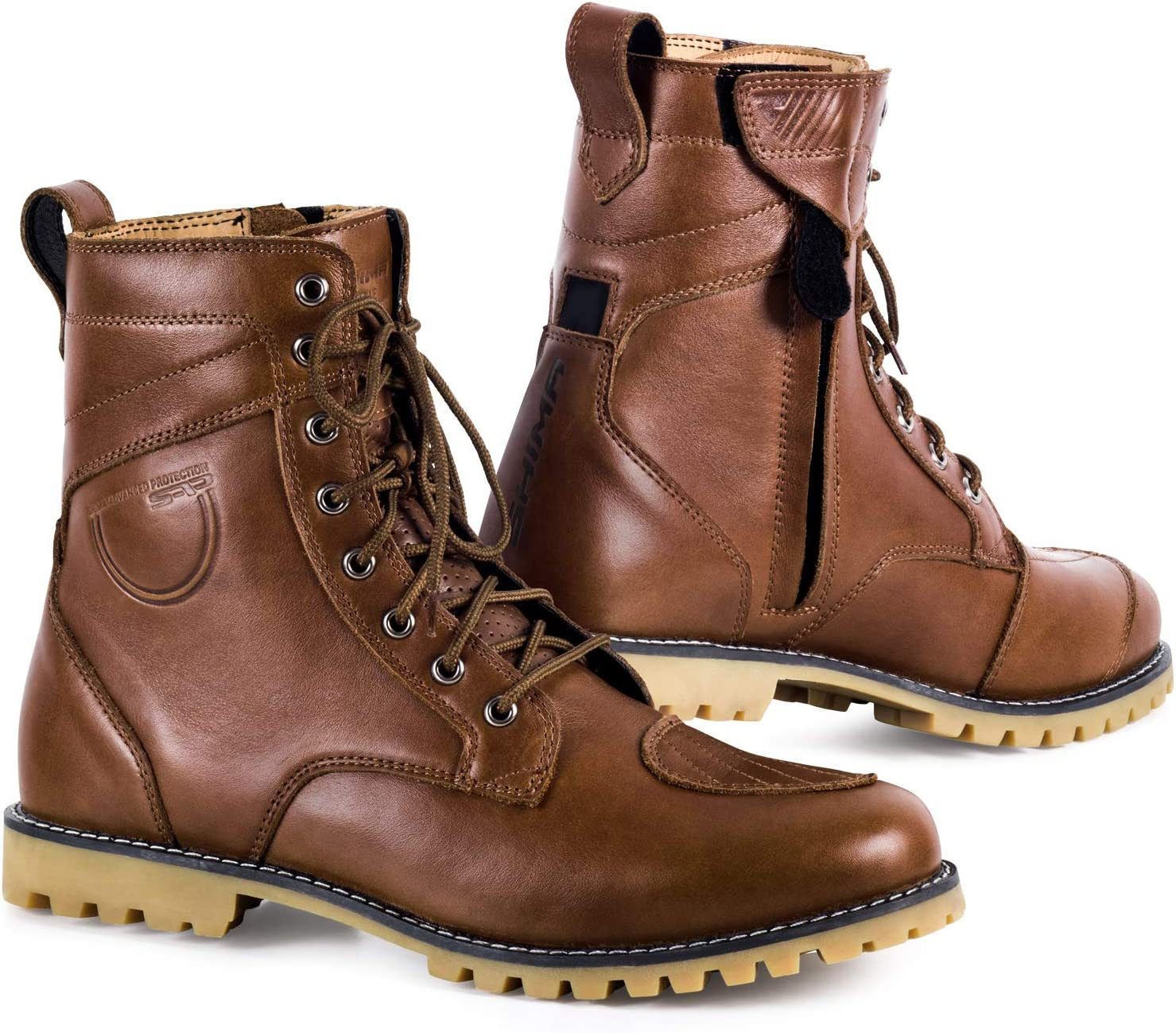 SHIMA THOMSON San Antonio Finally popular brand Mall Motorcycle Boots for Reinforced Leather Men