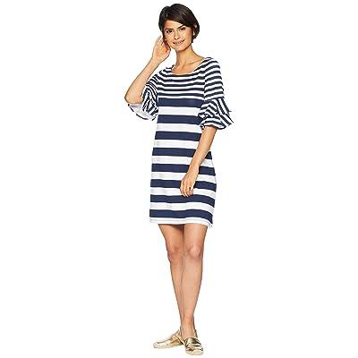 Lilly Pulitzer Lula Dress (True Navy Pop Up Safari Stripe Eng) Women