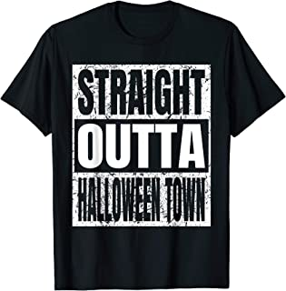 Straight Outta Halloween Town Costume Gifts Ideas Vintage T-Shirt