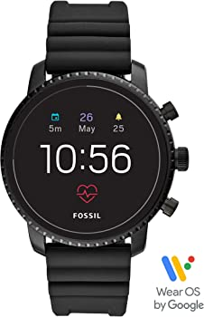 Fossil Men's Gen 4 Explorist HR Stainless Steel Touchscreen Smartwatch