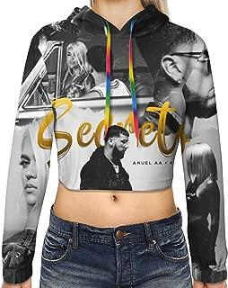 Anuel AA Karol G - Secreto Women Sports Navel Exposed Cropped Hoodie Sweatshirt