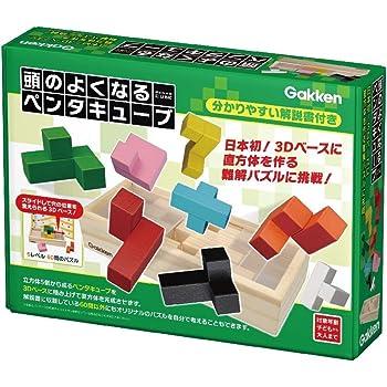 立体感覚を養う積み木 学研 頭のよくなるペンタキューブ 問題集付き 立体感覚のはぐくむ教材 図形の基礎 積み木