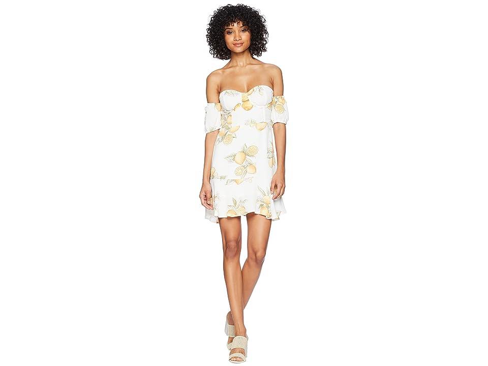 For Love and Lemons Lemonade Mini Dress (Lemon) Women