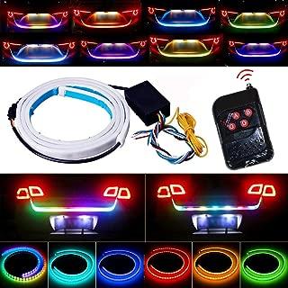 Tail Light, JAYEJA 5 Function 12 Driving Modes Remote Control Flexible Car Tail Trunk Brake Reversing Turn Signal Light Lamp 5050 Led Running Signal Light Car Flowing Warning Light
