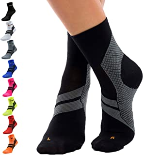 ZaTech Plantar Fasciitis Brace Sock, Compression Socks for Men & Women. Heel, Arch, Achilles, Light Ankle Support Brace. I...