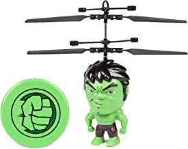 HULK 3.5 Inch Flying Figure IR UFO Big Head Remote Control Marvel Avengers Helicopter