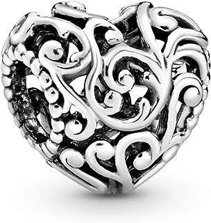 Pandora Jewelry - Regal Openwork Heart Charm in Sterling Silver