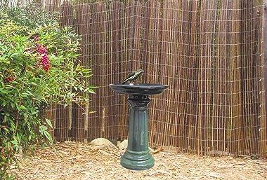 World Source East GP0110ES Harbor Gardens Bird Bath, 24 Inch, Light Blue
