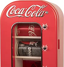 Coca-Cola AC/DC Retro Vending Electric Cooler with 10 Can Capacity - Beverage Vending Machine with Thermoelectric Cooling ...