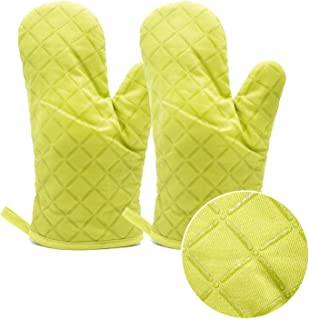 Ingahome Oven Mitts 2pcs Pot Holders Heat Resistant up to 482F/250°C Non-Slip Silicone Mesh Mitts Food Grade Kitchen Mitte...