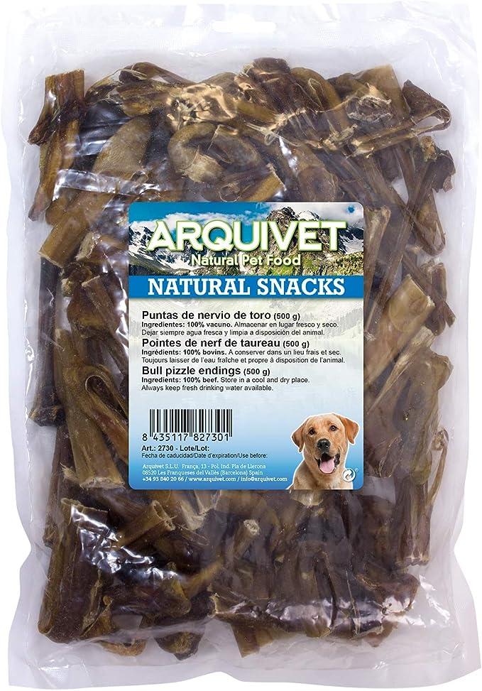 Arquivet Puntas de nervio de toro natural - Snacks naturales para perro - Golosinas para perro - Chuches para perro - Comida perros de gran calidad - ...