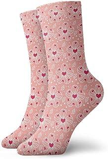 Luxury Calcetines de Deporte Flowers Valentines Day Unisex Funny Art 3D Print Casual Crew Socks Athletic Crew Socks