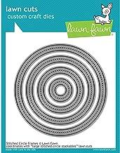 Lawn Cuts Custom Craft Die-stitched Circle Frames