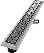 vilstein Hux Home con sifón de desagüe canaleta para ducha y desagüe, 80cm círculos, Plateado, VS-DB01-80K