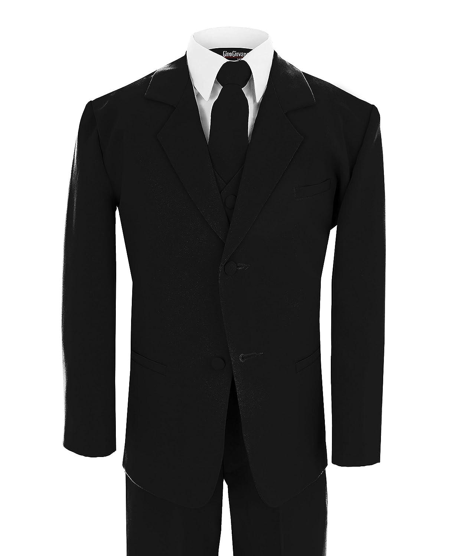 Ginoウェディング男の子フォーマルスーツブラックサイズ10