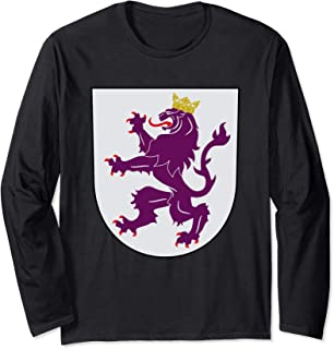 Kingdom of Leon Coat of Arms Crest Spain Portugal History Long Sleeve T-Shirt