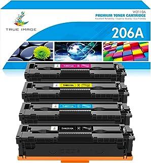 True Image Compatible Toner Cartridge Replacement for HP 206A W2110A W2111A W2112A W2113A 206X Color LaserJet Pro M255dw M...