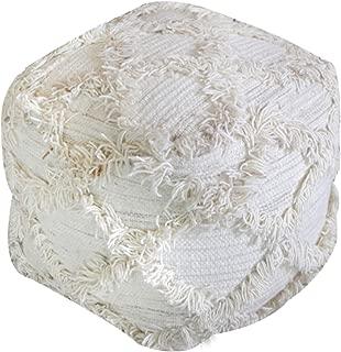Christopher Knight Home 299677 Viraj Ivory Fabric Pouf