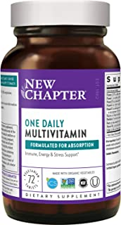 New Chapter One Daily Multivitamin (Formerly Only One) with Fermented Probiotics + Whole-Foods + Vitamin D3 + B Vitamins +...