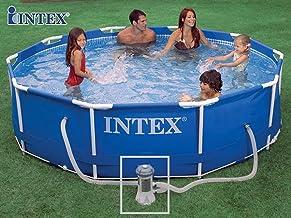 Intex - Kit de piscina tubular de metal (3,05 m x 0,76 m)