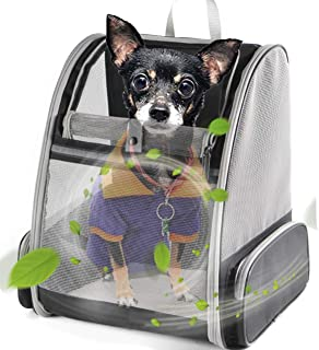 Cat Carrier Backpacks, Small Dog Backpack Carrier, Carrying Backpack for Cats, Airline Approved for Outdoor Hiking and Traveling