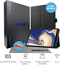 Samsung Galaxy Tab S4 SM-T830 10.5-Inch Touchscreen 64GB Tablet (4GB Ram, Wi-Fi, Android, Black) International Version with Case, Screen Protector, S-Pen Stylus, 32GB microSD Card and Cleaning Cloth