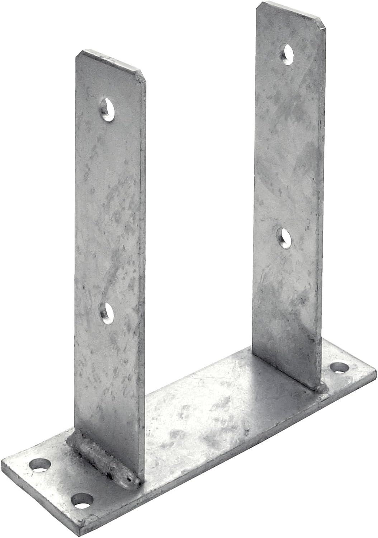 Connex HV4230 Pied de poteau en u diam/ètre 18 x 101 x 60 x 100 x 400 mm galvanis/é /à chaud