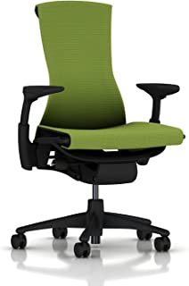 Herman Miller Embody Ergonomic Office Chair | Fully Adjustable Arms and Hard Floor Casters | Green Apple Balance