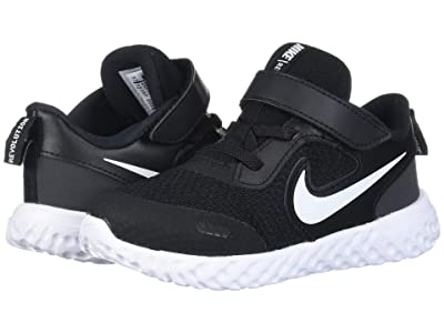 Nike Kids Revolution 5 (Infant/Toddler) (Black/White/Anthracite) Boys Shoes