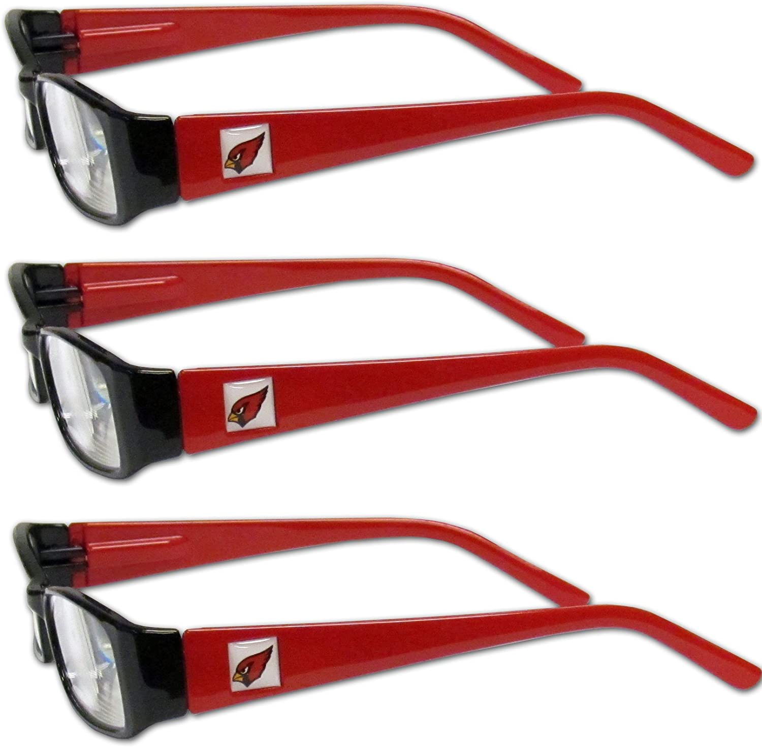 931d9f21 NFL Arizona Adult Reading Glasses (3Pack), Red, Power +1.50 Reading ...