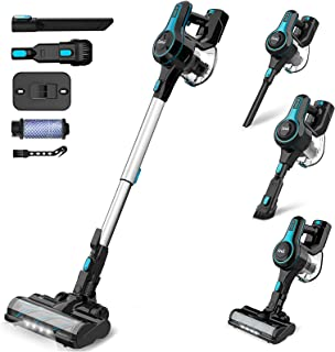 INSE Stick Vacuum Cleaner Cordless, 2 in 1 Upright Handheld Vac Portable&Lightweight Bagless Electric Broom - for Pet Hair...