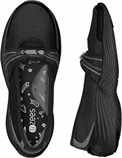 Bzees by Naturalizer Twinkle Slip-On Shoes, Black, 7 Wide, Black, Size 7.5